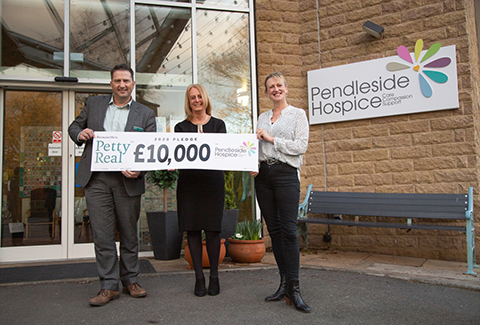 £10,000 for Pendleside Hospice